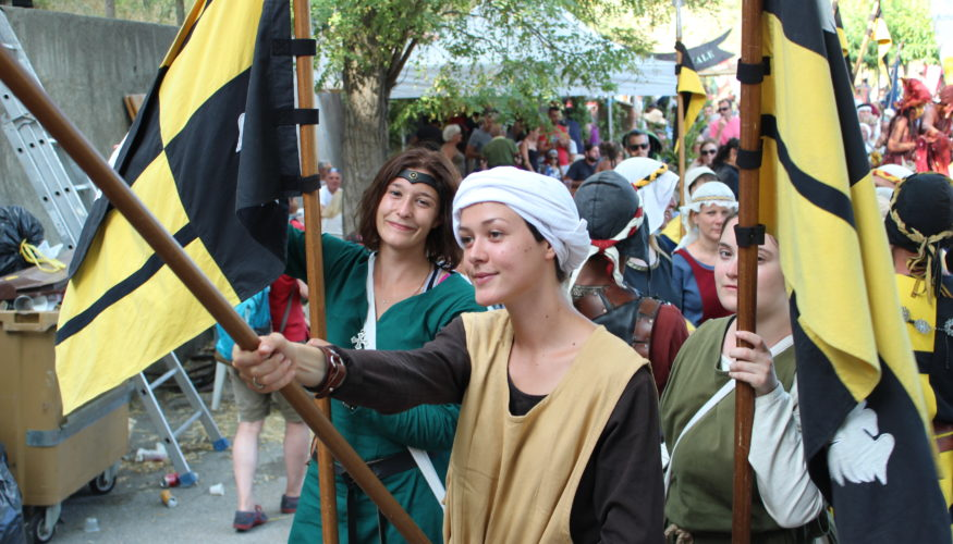 entrevaux medievale drapeaux